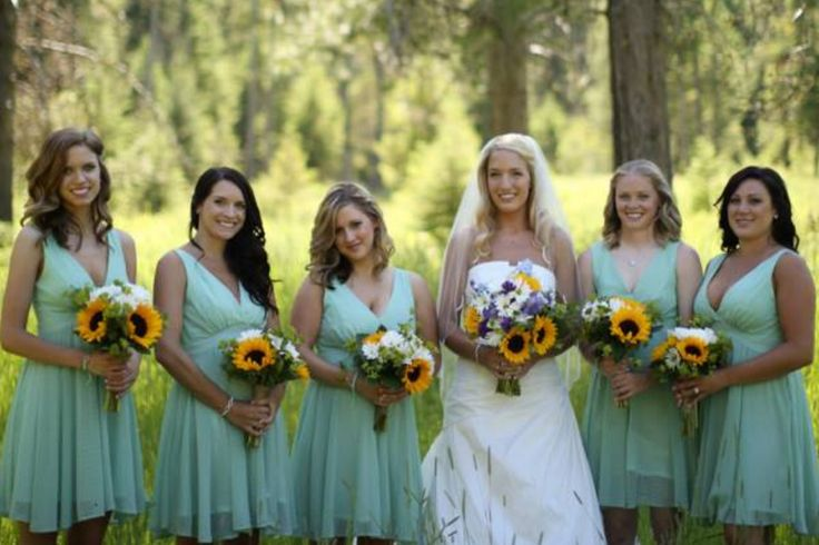 Mint Bridesmaids Dresses Country Wedding Mint Boots