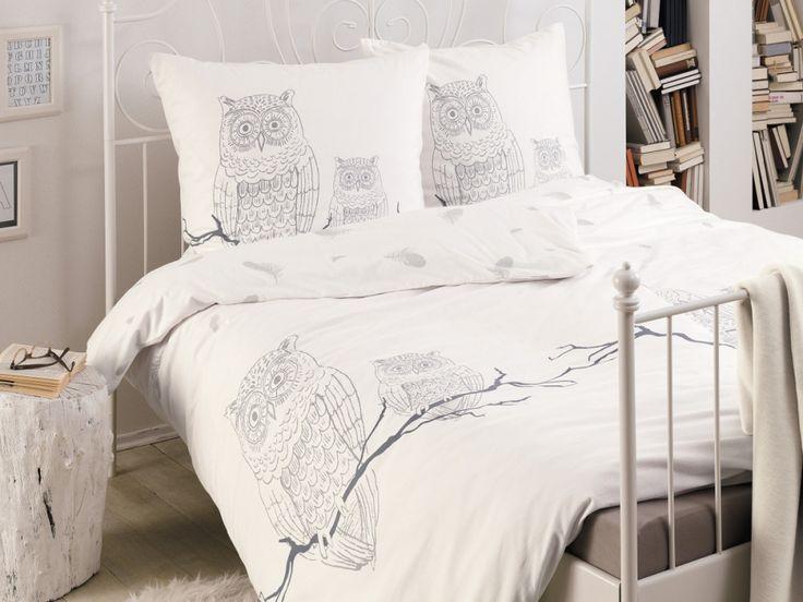 zeitgeist feinflanell bettw sche 135x200 80x80 eulen bedruck bettw sche pinterest. Black Bedroom Furniture Sets. Home Design Ideas