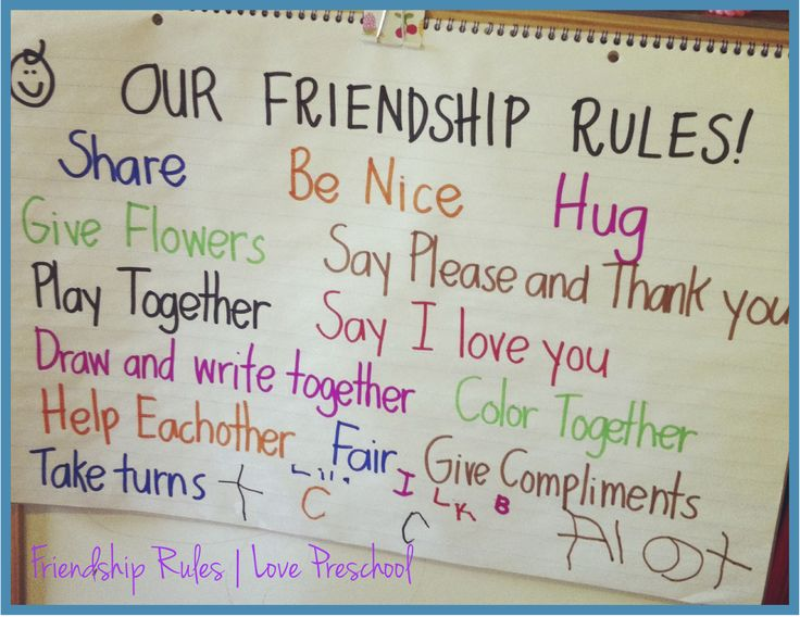 Setting up Rules in a Preschool Classroom: Friendship Rules!