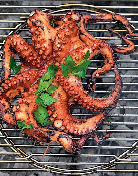 grill rezept oktopus grill pinterest james bond grilling and food. Black Bedroom Furniture Sets. Home Design Ideas