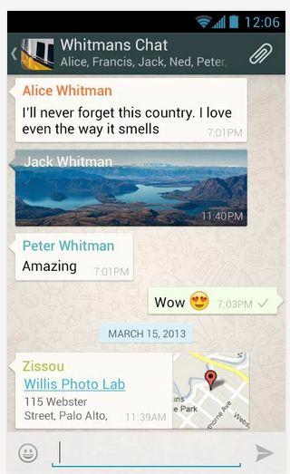 WhatSapp Android Telefonlar İçin