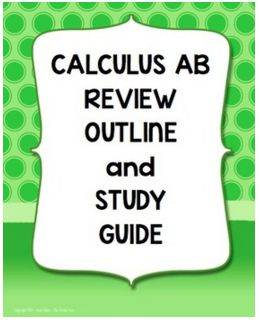 It's time again to start reviewing for the AP Calculus Exam.   I don't know about you, but you can never have too much review material...