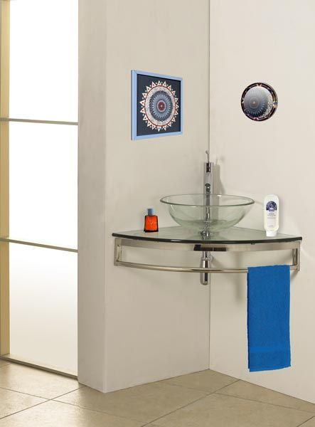 Elegant DreamLine Modern Glass Clear Simplicity Corner Vanity With Sink Is Made By  The Brand DreamLine. It Has A Part Number Of