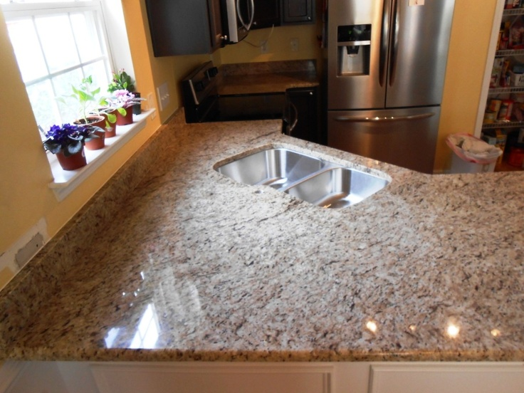 17 best images about giallo ornamental on dark cabinets on for 3 4 inch granite countertops