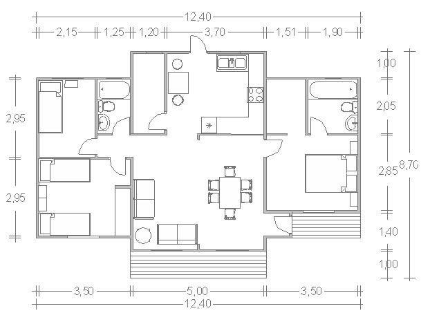 Chalets 3 habitaciones, vestidor en la habitación principal, 2 cuartos de baño completo uno en suite, cocina, despensa, salón comedor, terra...