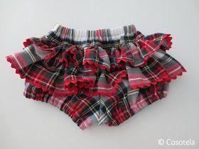 cosotela: Pantalón con volantes. Imprimir patrón y cortar la tela.