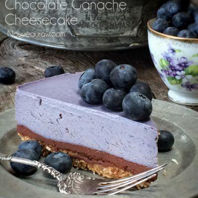 Bountiful Blueberry Chocolate Ganache Cheesecake