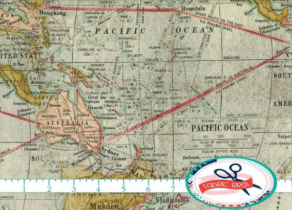 fabrics vintage map