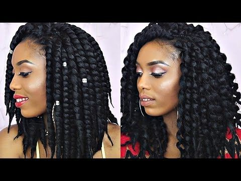 How To Unravel And Style Short Havana Twist Tutorial - YouTube
