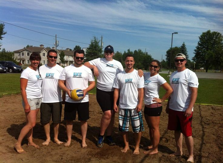 The #EXITrealty team at the 2014 #Limoges Community Day Volleyball Tourney. We weren't the best team out there, but we were the best dressed!!! ;) #tessierteam