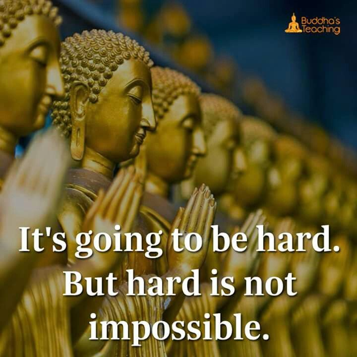 Hard is not impossible .