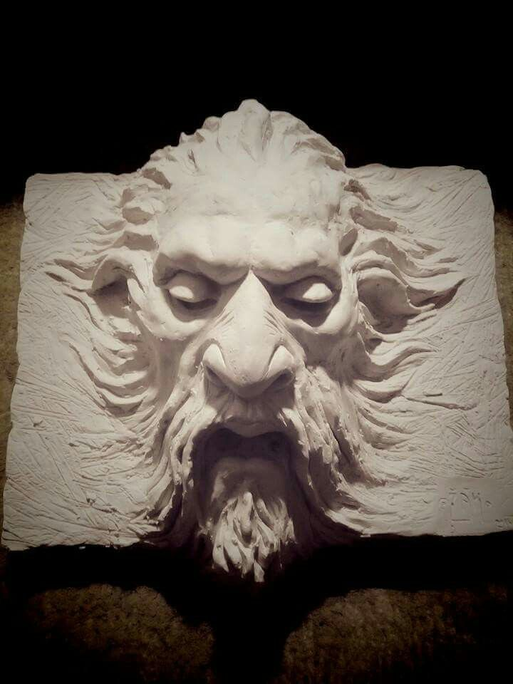 Head of Faun /mascarone/ plaster. #sculpture #architecture