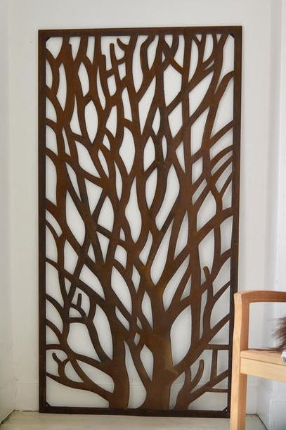rustic metal tree screen nature wall art bring the outdoors in