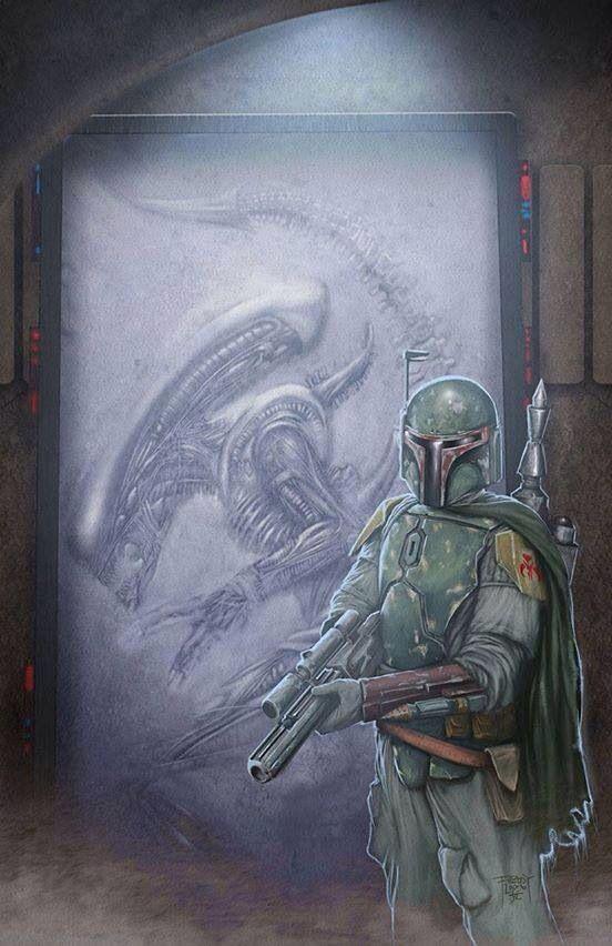 Boba vs. the Alien Xenomorph... Boba wins.