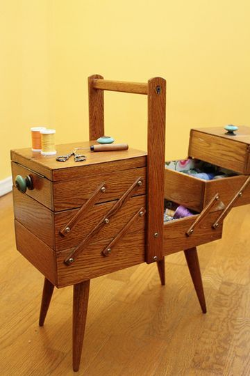 I think everyone's grandmother had one of these sewing boxes.