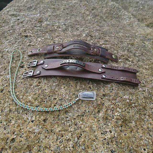 Leather bracelets by Six C Nomad of Sweden