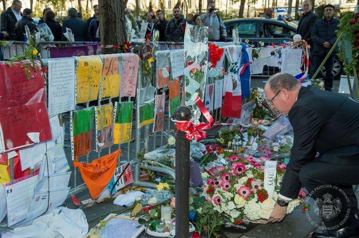 S.A.S. le Prince Albert II rend hommage aux victimes du Bataclan -© Gaétan Luci/Palais Princier - 03