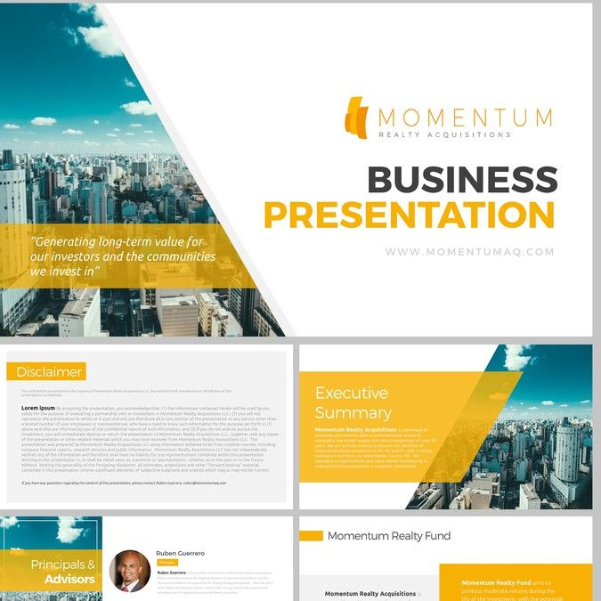 Powerpoint Design for Real Estate Investment Firm by rrgraph