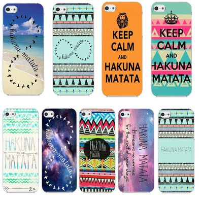 Hakuna Matata on Aztec Tribe Beach Nebula Galaxy Case Cover For iphone 5c New