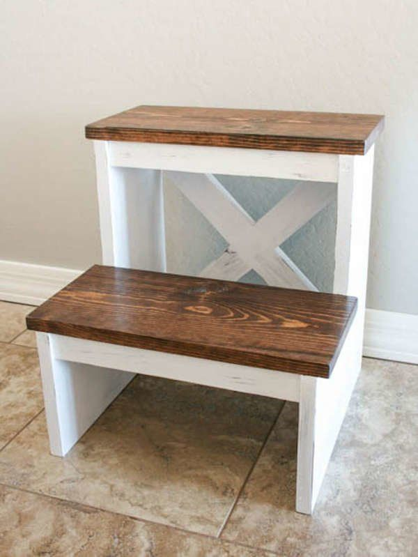 12 Diy Step Stool Designs You Can Make Wood Step Stool Wooden Step Stool Step Stool