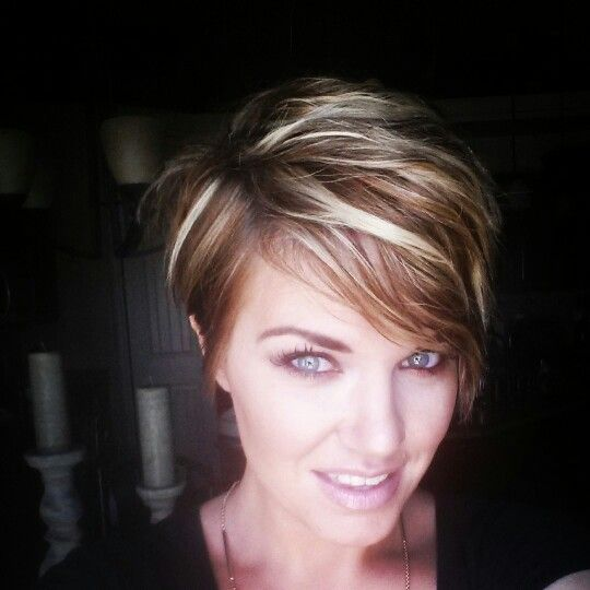 Pixie cut and color--love those sneaky highlights! !!