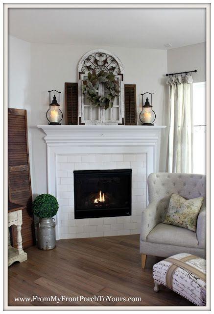 17 Best Ideas About Farmhouse Fireplace On Pinterest
