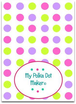46 best My Polka Dot Maker images on Pinterest Polka dot, Polka - dot paper template