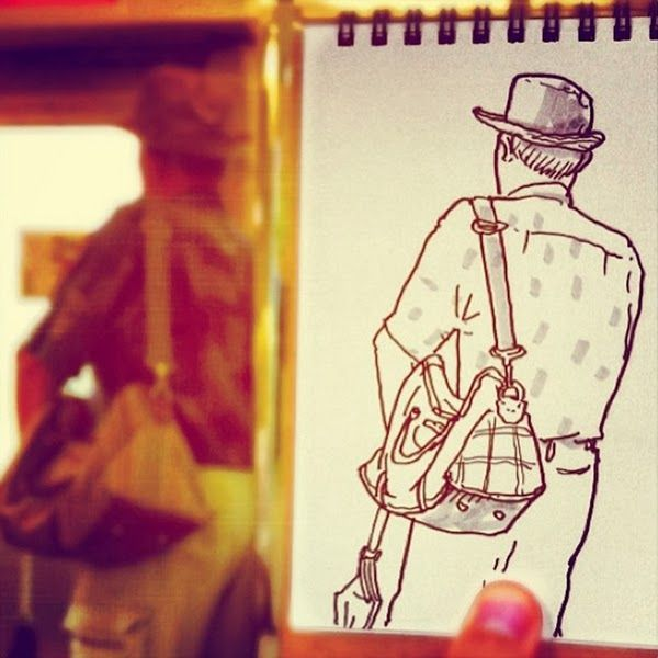 Japanese Illustrator Transform Everyday Scenes Into Speed Sketches   ideaing