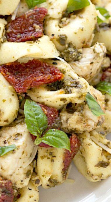 Pesto Chicken Tortellini
