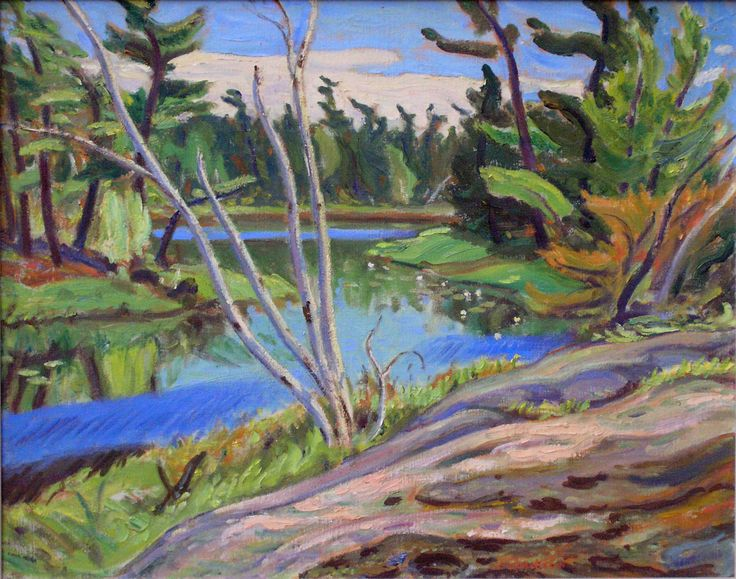 'Georgian Bay Lagoon', 1958, oil on canvas by Alexander Young Jackson at Mayberry Fine Art