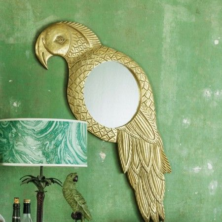 Gold Parrot Mirror - View All Mirrors - Mirrors - Lighting & Mirrors