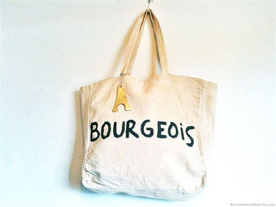 Bourgeois French Eco Bag / My Little French by MyLittleFrenchShop, $89.00