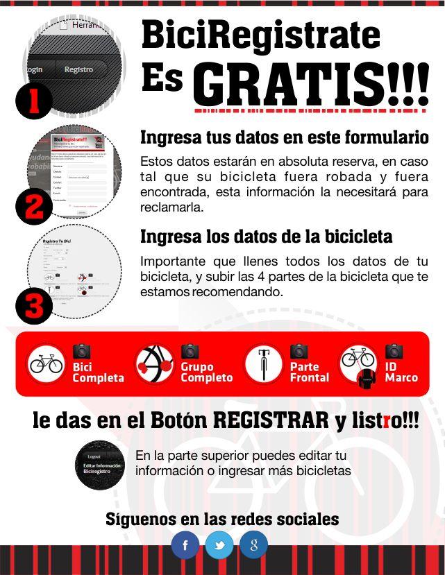 Registra tu Bici, es Gratis!!!!! #NoAlcomercioDeBicisRobadas en #Colombia