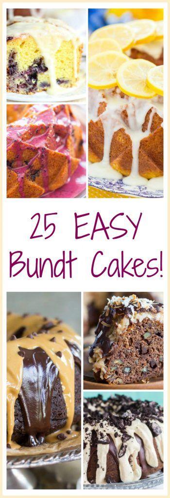 The Gold Lining Girl | 25 Easy Bundt Cake Recipes! | http://thegoldlininggirl.com
