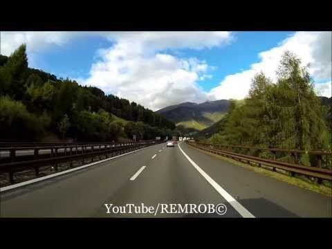 Driving Through Alps From Vipiteno Italy To Sindelsdorf Germany - YouTube