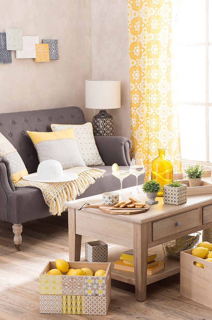 41 best yellow grey and white images on pinterest - Maison tendance ...