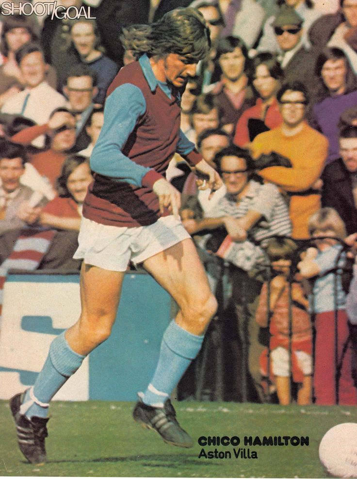 August 1972. Aston Villa wide man Ian 'Chico' Hamilton.