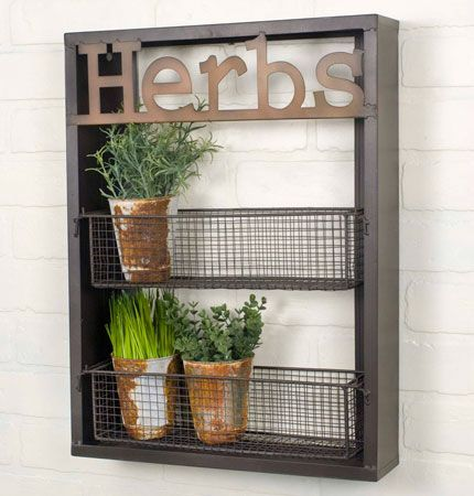 """15""""W x 3½""""D x 20""""T. Use this rack in a garden to hold small potted plants. This…"""