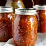 Fire Roasted Salsa Canning Recipe using farm fresh tomatoes and poblano peppers, roasted on the grill for a delicious salsa that's perfect for canning.