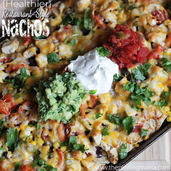 These homemade nachos hit the spot when you are craving a big plate of cheesy nachos from your favorite restaurant. They are packed with white meat chicken and lots of veggies to pump up the fiber...