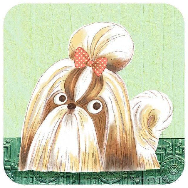 Sophie Hogarth Op Instagram Dog A Day Number 2 The Shihtzu Illustration Quicksketch Illustration Dog Illustration Artwork