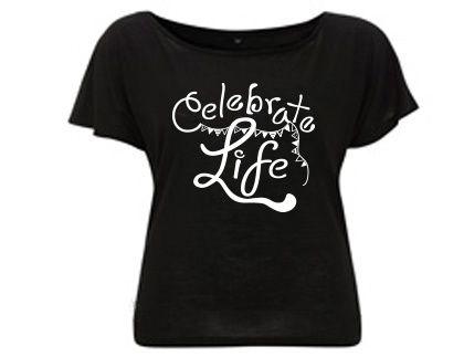 Celebrate Life  - Duurzaam Tencel T-shirt Zwart