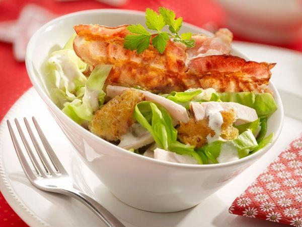 salade met kalkoen en briedressing