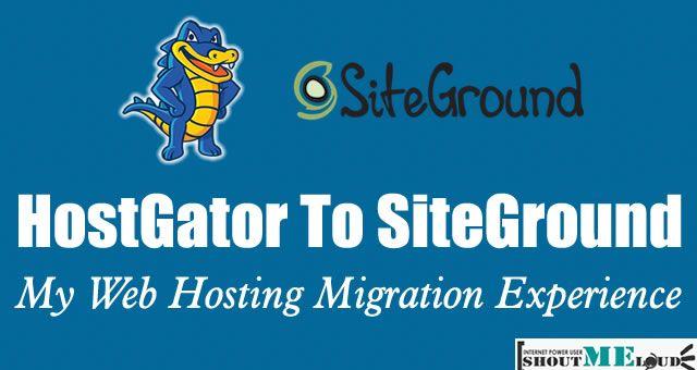 HostGator To SiteGround
