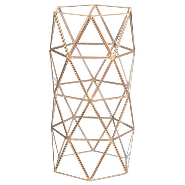 Vase en verre et métal TRIANGLES