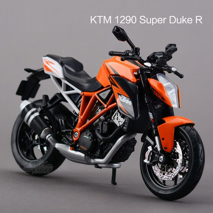 KTM 1290 Super Duke R Motorcycles 1:12 Diecast Metal Sport Bike Model Toy New in Box For Kids
