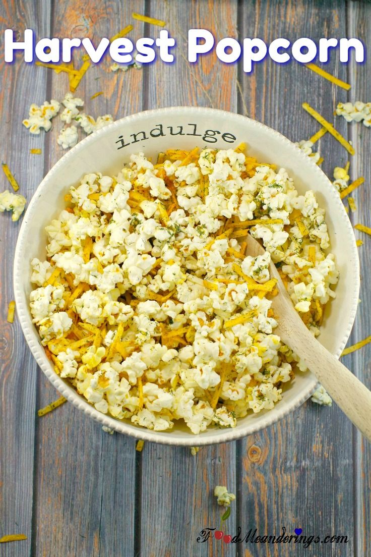 This Shortcut Harvest Popcorn is a creative and unique savory popcorn seasoning recipe made with microwave popcorn, hickory sticks, dill, lemon pepper, garlic powder, onion powder, butter and worscestershire sauce. #popcorn #snack #easyrecipes #quickandeasy #snackattack