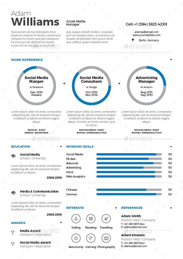 Best Cv Images On   Resume Resume Templates And