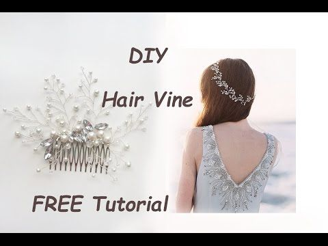 Very Easy DIY Bridal Hair Vine Comb Pin Tiara Tutorial Wire Beads - YouTube