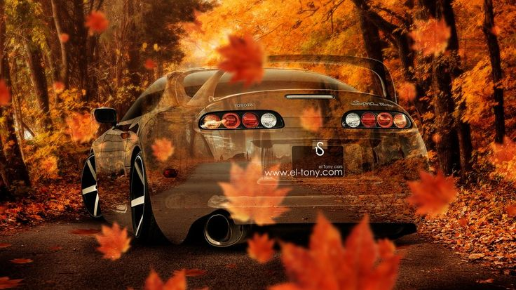 Toyota Supra JDM Crystal Nature Autumn Car 2014 Design By Tony Kokhan [www.el Tony.com]  | El Tony.com | Pinterest | Toyota Supra, Jdm And Toyota